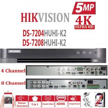 DS-7204HUHI-KI HIKVISION 5MP DVR 4CH 8CH 16CH TURBO CCTV 1080P FULL HD  CHANNEL AHD TVI CVI HUHI